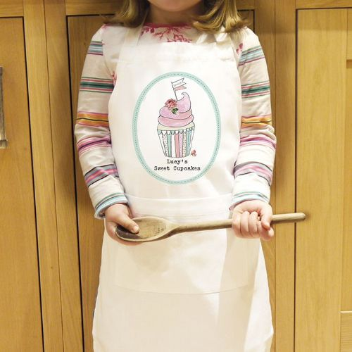 Personalised Little Cupcake Kids Apron